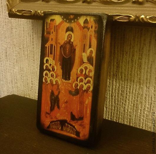 Иконы ручной работы. Ярмарка Мастеров - ручная работа. Купить Иконка Непроходимая дверь Иконы на дереве. Handmade. Коричневый, икона
