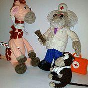 Куклы и игрушки handmade. Livemaster - original item Kind Doctor Aibolit. Handmade.