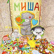 """Куклы и игрушки ручной работы. Ярмарка Мастеров - ручная работа Развивающая книжка """"Миша"""". Handmade."""