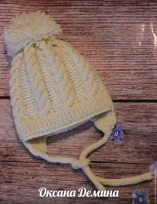 Шапки и шарфы ручной работы. Ярмарка Мастеров - ручная работа. Купить Шапка для новорожденного. Handmade. Комбинированный, шапка вязаная