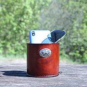 Для дома и интерьера handmade. Livemaster - original item Leather organizer for interior and office. Handmade.