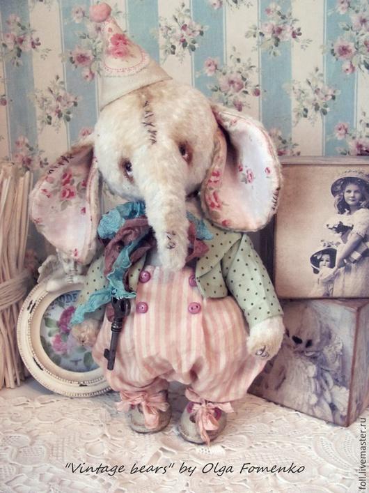 Мишки Тедди ручной работы. Ярмарка Мастеров - ручная работа. Купить Слоник Жозеф. Коллекция Шебби.. Handmade. Слон, опилки