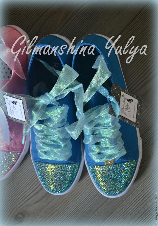 Обувь ручной работы. Ярмарка Мастеров - ручная работа. Купить Солнечный день. Handmade. Синий, стиль, ручная авторская работа