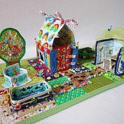 Куклы и игрушки ручной работы. Ярмарка Мастеров - ручная работа Развивающий игровой коврик Дача. Handmade.