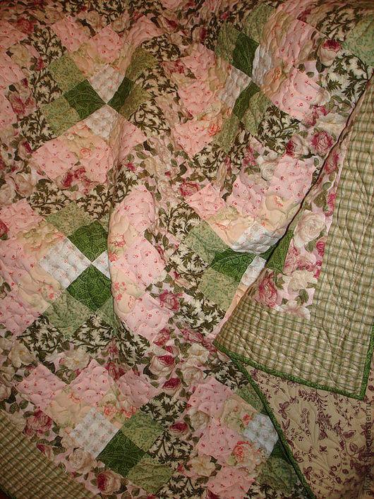 """Текстиль, ковры ручной работы. Ярмарка Мастеров - ручная работа. Купить Лоскутное одеяло """"Весеннее"""". Handmade. Лоскутное одеяло"""
