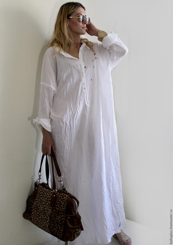 ed270621b42 Платья ручной работы. Хлопковое платье-рубашка