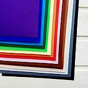 Материалы для творчества handmade. Livemaster - original item Set of hard Korean felt 15 colors 20h30 Art. One thousand three hundred twenty seven. Handmade.