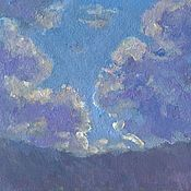 Картины и панно handmade. Livemaster - original item Clouds in the mountains. Handmade.