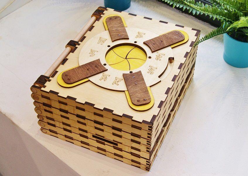 Персональные подарки ручной работы. Ярмарка Мастеров - ручная работа. Купить Механическая книга-головоломка из дерева. Handmade. Дизайн