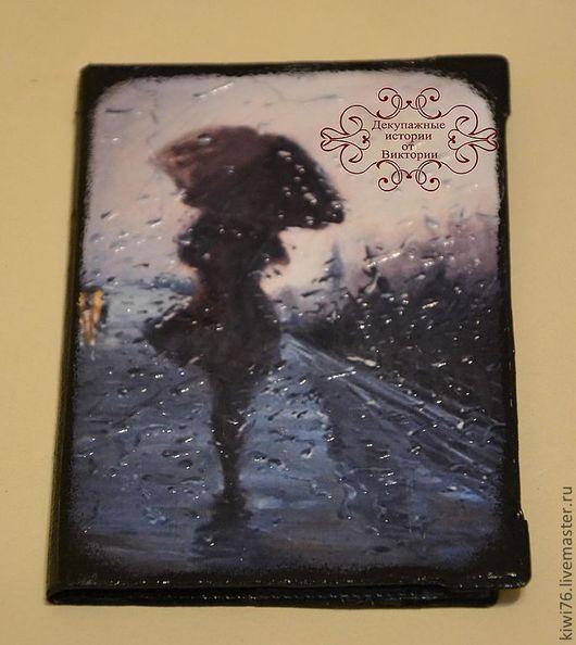 """Обложки ручной работы. Ярмарка Мастеров - ручная работа. Купить Обложка на паспорт """"Мелодия дождя"""". Handmade. Декупаж, обложка для паспорта"""