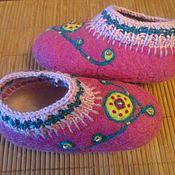 """Обувь ручной работы. Ярмарка Мастеров - ручная работа Тапочки """" Карусель"""". Handmade."""
