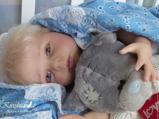Куклы-младенцы и reborn ручной работы. Ярмарка Мастеров - ручная работа. Купить Клим (Хоней 6). Handmade. Голубой