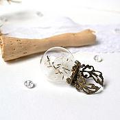 handmade. Livemaster - original item Scope ring with Dandelion Seeds, the Life of Eco jewelry. Handmade.