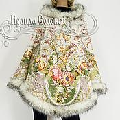 """Одежда ручной работы. Ярмарка Мастеров - ручная работа Пончо с капюшоном """"Отрада-2"""" из павловопосадских платков. Handmade."""