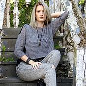 "Одежда handmade. Livemaster - original item Knitted tunic ""Graphic"". Handmade."