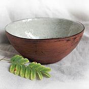"""Посуда ручной работы. Ярмарка Мастеров - ручная работа Большая пиала """"Весенний лес"""". Handmade."""