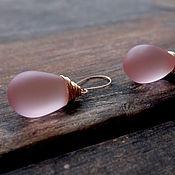 Украшения handmade. Livemaster - original item Earrings 14k gold