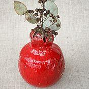Вазы ручной работы. Ярмарка Мастеров - ручная работа Гранат Красный керамическая ваза. Handmade.