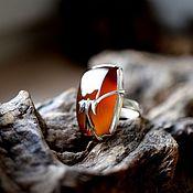 Украшения handmade. Livemaster - original item Carnelian. personalized ring. Handmade.
