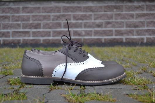 Обувь ручной работы. Ярмарка Мастеров - ручная работа. Купить Оксфорд 3-х цветный светлый. Handmade. Бежевый