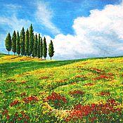 """Картины и панно ручной работы. Ярмарка Мастеров - ручная работа Картина """"Цветущая Тоскана"""". Handmade."""