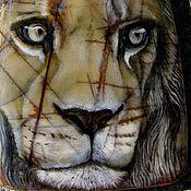 """Украшения ручной работы. Ярмарка Мастеров - ручная работа Кулон """"Лев"""", яшма Пикассо (резерв). Handmade."""