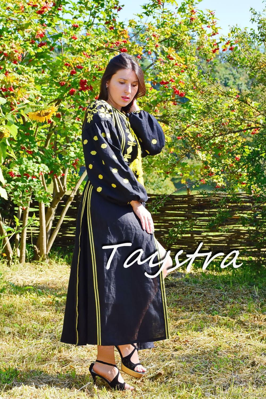 Черное платье вышиванка этно бохо стиль Вита Кин, Платья, Черновцы,  Фото №1