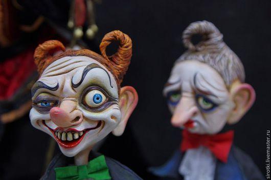 Коллекционные куклы ручной работы. Ярмарка Мастеров - ручная работа. Купить Цирковой артист Рэд.. Handmade. Ярко-зелёный
