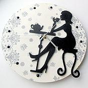 Часы классические ручной работы. Ярмарка Мастеров - ручная работа Часы Парижское кафе. Handmade.