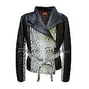 Одежда ручной работы. Ярмарка Мастеров - ручная работа Куртка из питона MILLENIA. Handmade.