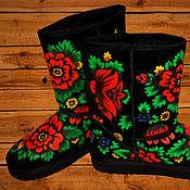 Обувь ручной работы. Ярмарка Мастеров - ручная работа Угги Хохлома. Handmade.