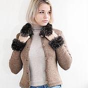 Одежда handmade. Livemaster - original item Knitted cashmere woman jacket. Handmade.