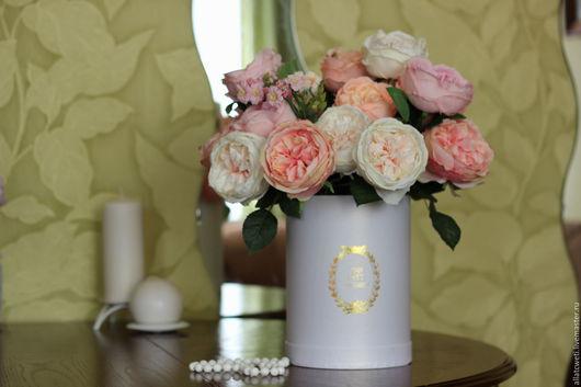 Интерьерные композиции ручной работы. Ярмарка Мастеров - ручная работа. Купить Розы для ..... Handmade. Комбинированный, розы из шелка, подарок
