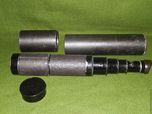 Электроника. Ярмарка Мастеров - ручная работа. Купить РАРИТЕТ Антикварная огромная подзорная труба телескоп бинокль. Handmade. Подзорная труба