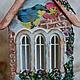 Кухня ручной работы. Ярмарка Мастеров - ручная работа. Купить Чайный домик.. Handmade. Разноцветный, декупаж и роспись, крупа