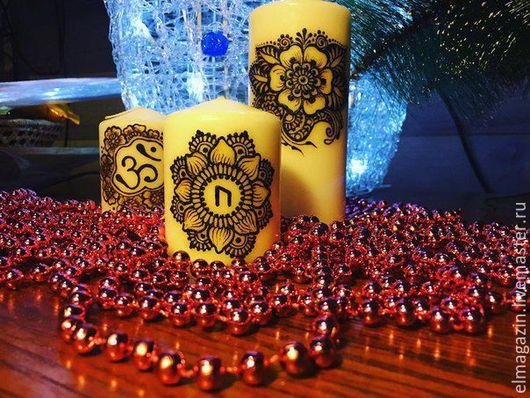 """Свечи ручной работы. Ярмарка Мастеров - ручная работа. Купить Набор свечей """"Трио"""". Handmade. Свеча в подарок, свеча"""