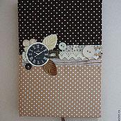 Канцелярские товары ручной работы. Ярмарка Мастеров - ручная работа Шоколадно-крафтовый блокнот. Handmade.