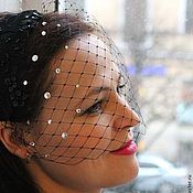 "Аксессуары ручной работы. Ярмарка Мастеров - ручная работа Вуалетка ""Gouttelettes de pluie"" (Капельки дождя). Handmade."