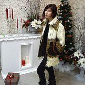 Одежда ручной работы. Ярмарка Мастеров - ручная работа Валяная куртка на молнии с большими карманами и рукавами 3/4. Handmade.