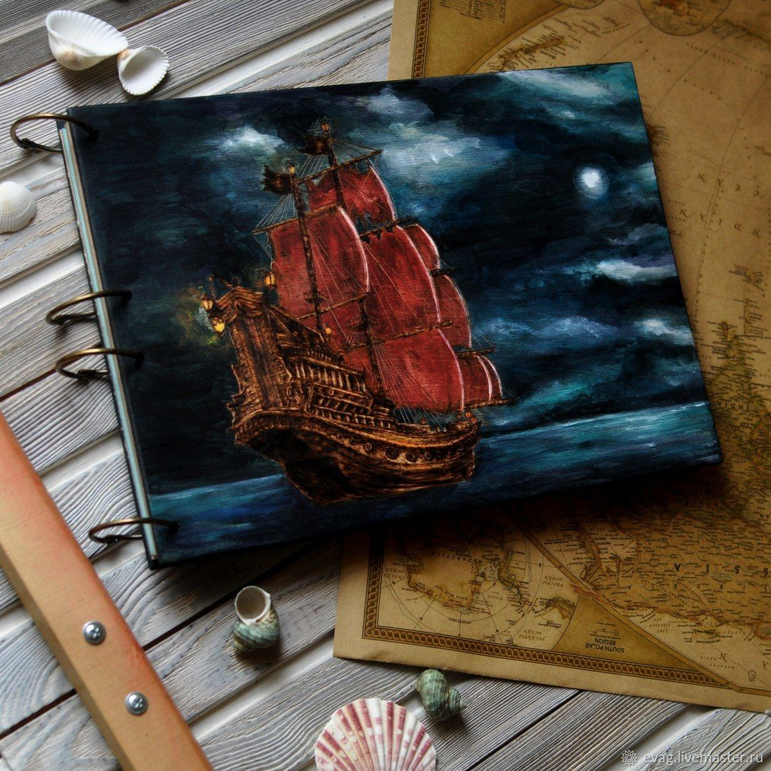 """Notepad A4 """"Pirate ship"""", Sketchbooks, Moscow,  Фото №1"""
