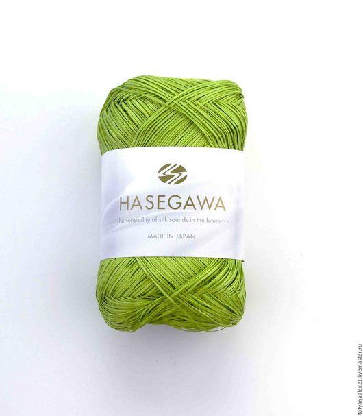Вязание ручной работы. Ярмарка Мастеров - ручная работа. Купить Пряжа Hasegawa STIFFY CC1 20 GREEN FLASH. Handmade.