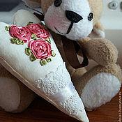 """Подарки к праздникам ручной работы. Ярмарка Мастеров - ручная работа Сердечко """"Розы"""". Handmade."""