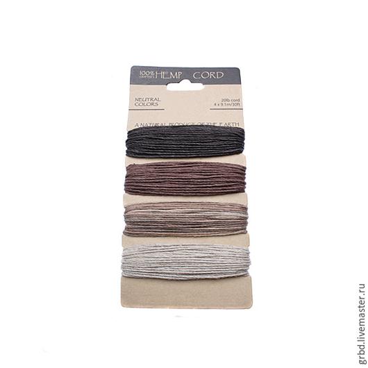 """Для украшений ручной работы. Ярмарка Мастеров - ручная работа. Купить Набор шнуров """"Neutral Colors"""". Handmade. Шнур"""