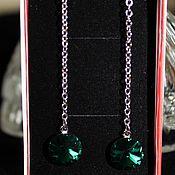 Украшения handmade. Livemaster - original item Yodirovannoye earrings with Swarovski crystals Cleopatra. Handmade.