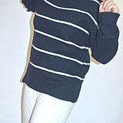 Одежда ручной работы. Ярмарка Мастеров - ручная работа Джемпер вязаный из кашемирового твида. Handmade.