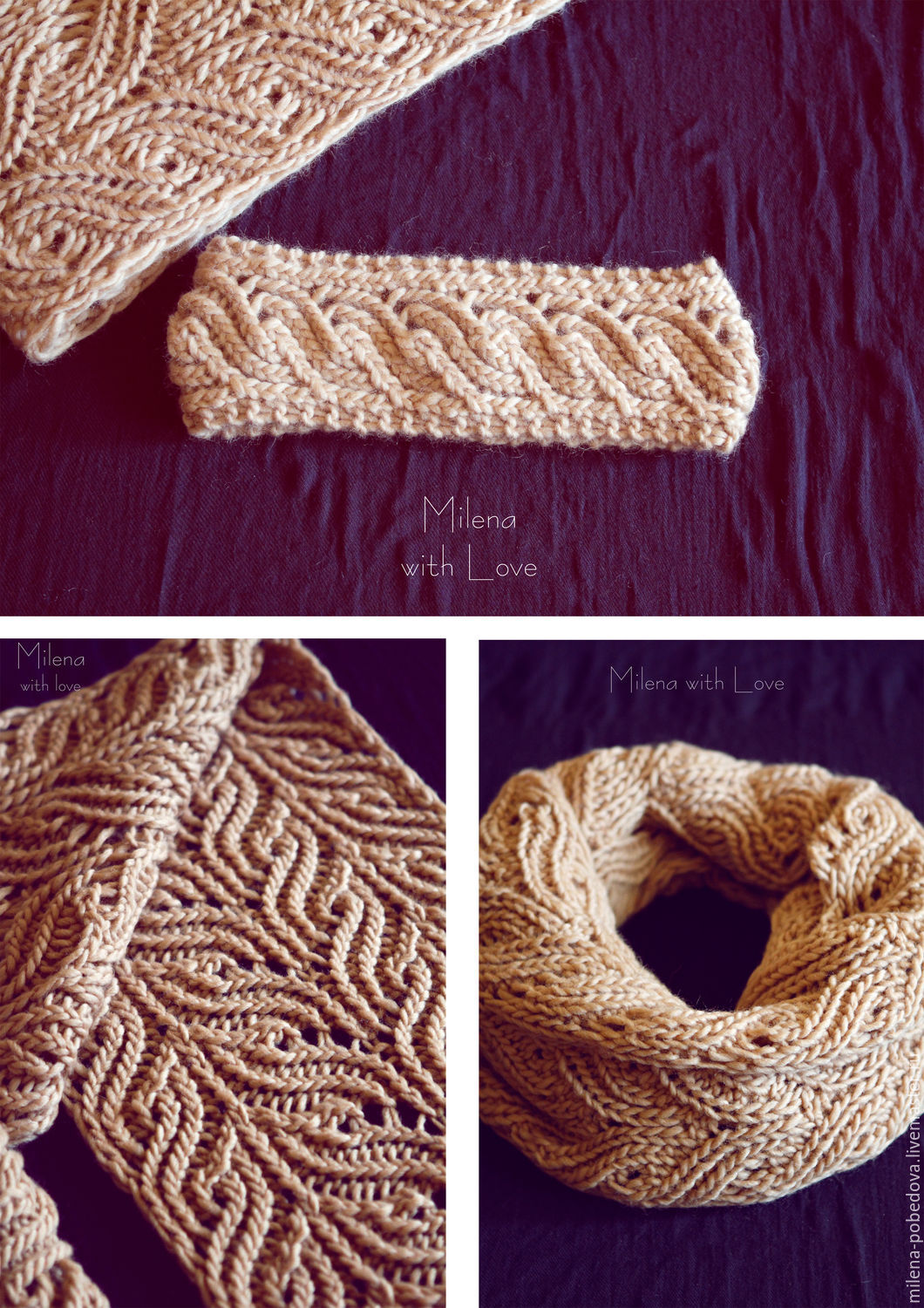 Sets of Items handmade. Livemaster - handmade. Buy Crochet Apricot set, knitted scarf and bandage.Scarf, beige