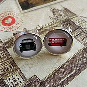 Украшения handmade. Livemaster - original item Cufflinks silver plated London transport (large). Handmade.