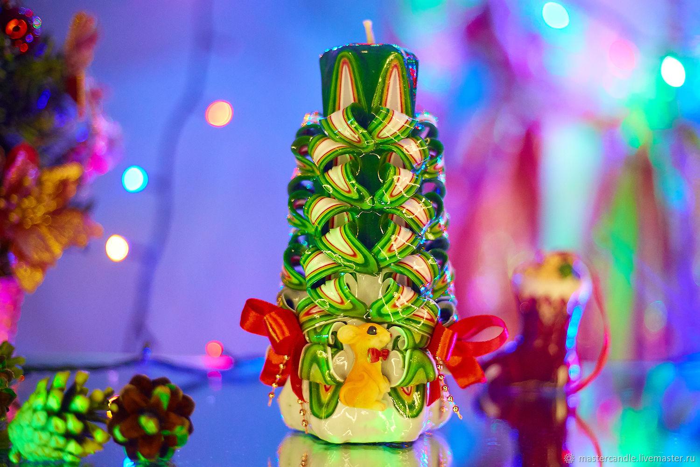 Резная свеча. Новый Год. Рождество, Свечи, Москва,  Фото №1
