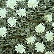 Аксессуары handmade. Livemaster - original item Multi-colored AMIRA knitted shawl 220*110 cm with patterns and fringe g004. Handmade.