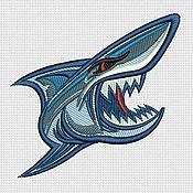 """Материалы для творчества handmade. Livemaster - original item Machine embroidery design """"Shark"""" bt022. Handmade."""